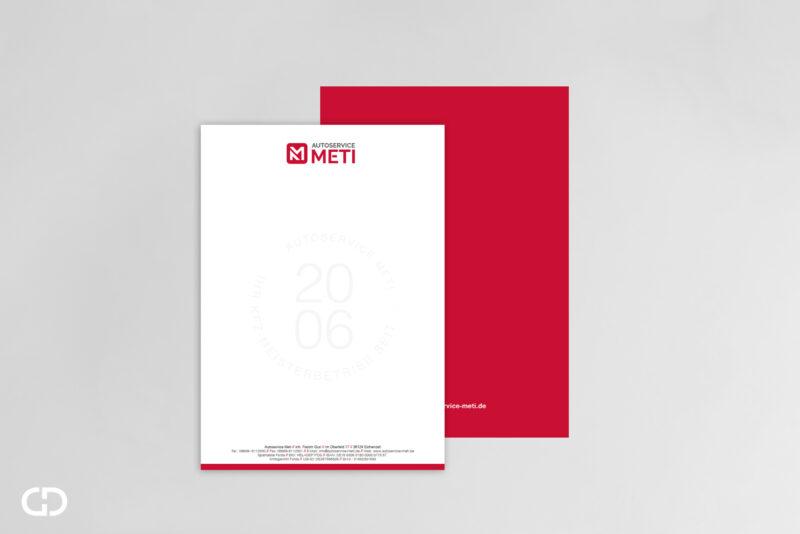 Goldwerk-Meti-Briefpapier